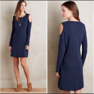 Anthropologie Sol Angeles Cold Shoulder Dress